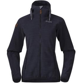 Bergans W's Hareid Fleece Jacket Dark Navy Melange